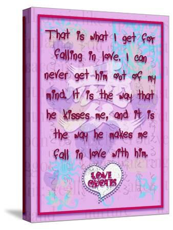 That Is What I Get for Falling in Love-Cathy Cute-Stretched Canvas Print