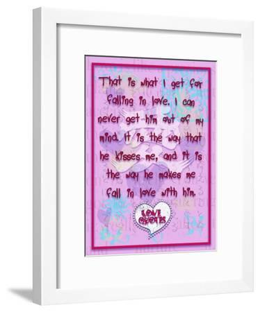 That Is What I Get for Falling in Love-Cathy Cute-Framed Giclee Print
