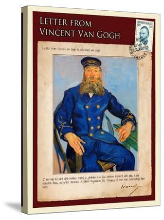 Letter from Vincent: Portrait of the Postman Joseph Roulin-Vincent van Gogh-Stretched Canvas Print