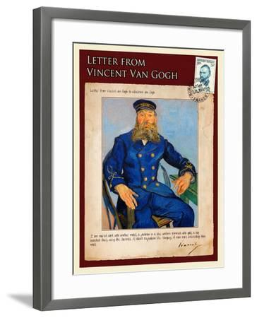 Letter from Vincent: Portrait of the Postman Joseph Roulin-Vincent van Gogh-Framed Giclee Print