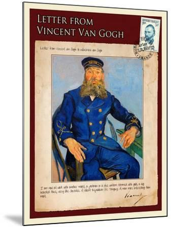 Letter from Vincent: Portrait of the Postman Joseph Roulin-Vincent van Gogh-Mounted Giclee Print