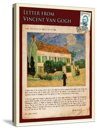Letter from Vincent: White House at Night-Vincent van Gogh-Stretched Canvas Print