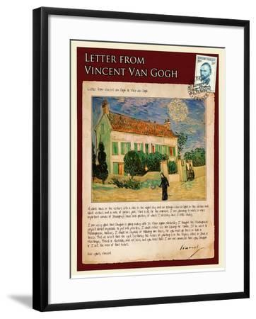 Letter from Vincent: White House at Night-Vincent van Gogh-Framed Giclee Print