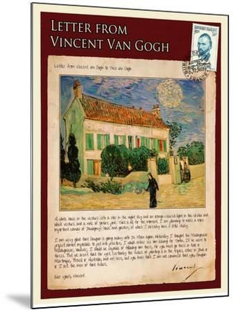 Letter from Vincent: White House at Night-Vincent van Gogh-Mounted Giclee Print