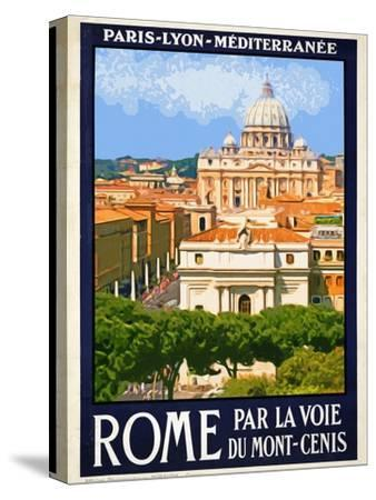 St. Peter's Basilica, Roma Italy 6-Anna Siena-Stretched Canvas Print