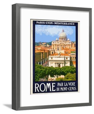St. Peter's Basilica, Roma Italy 6-Anna Siena-Framed Giclee Print