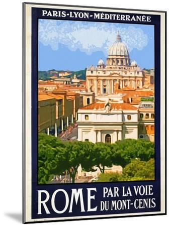 St. Peter's Basilica, Roma Italy 6-Anna Siena-Mounted Giclee Print