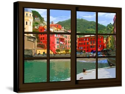 View from the Window Vernazza at Cinque Terre-Anna Siena-Stretched Canvas Print