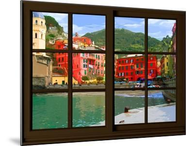 View from the Window Vernazza at Cinque Terre-Anna Siena-Mounted Giclee Print