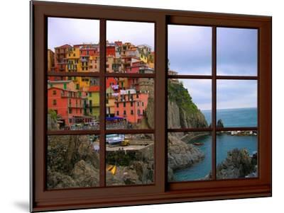 View from the Window Manarola at Cinque Terre-Anna Siena-Mounted Giclee Print