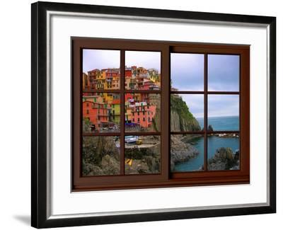 View from the Window Manarola at Cinque Terre-Anna Siena-Framed Giclee Print