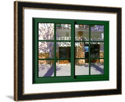 View from the Window at San Gimignano, Tuscany-Anna Siena-Framed Giclee Print