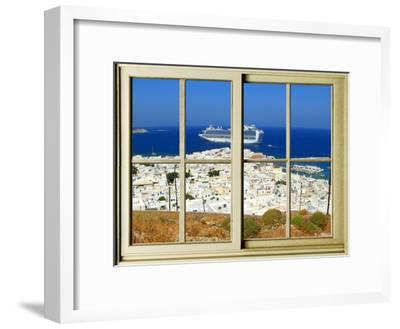 View from the Window at Mykonos Island 1-Anna Siena-Framed Giclee Print