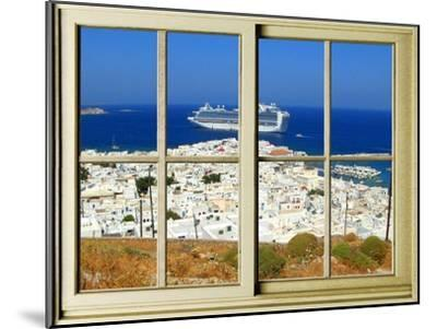View from the Window at Mykonos Island 1-Anna Siena-Mounted Giclee Print