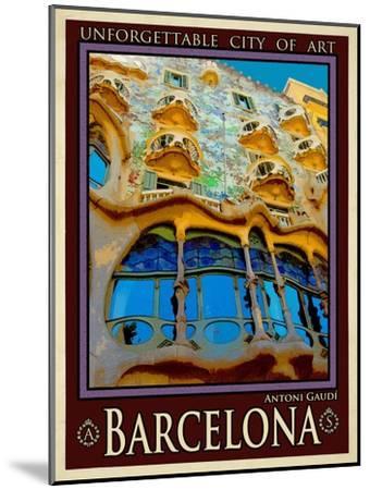 Barcelona Spain 5-Anna Siena-Mounted Giclee Print
