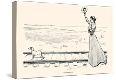 Monday Morning-Charles Dana Gibson-Stretched Canvas Print