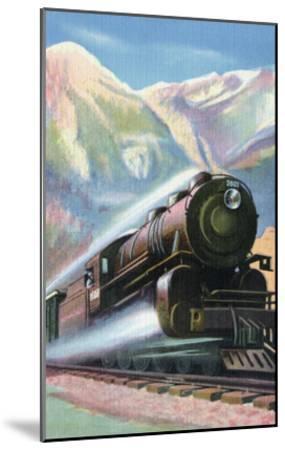 Steaming Full Speed Ahead--Mounted Art Print
