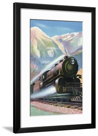 Steaming Full Speed Ahead--Framed Art Print