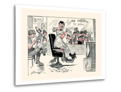 The First Barber Shop Hair Cut-Clare A. Briggs-Metal Print
