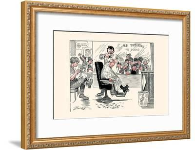 The First Barber Shop Hair Cut-Clare A. Briggs-Framed Art Print
