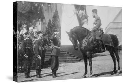Nicholas I on Horseback Is Saluted by His Military--Stretched Canvas Print