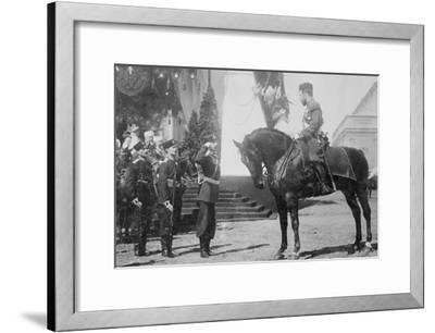 Nicholas I on Horseback Is Saluted by His Military--Framed Art Print