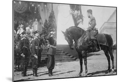 Nicholas I on Horseback Is Saluted by His Military--Mounted Art Print