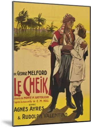 Le Cheik (The Sheik)--Mounted Art Print