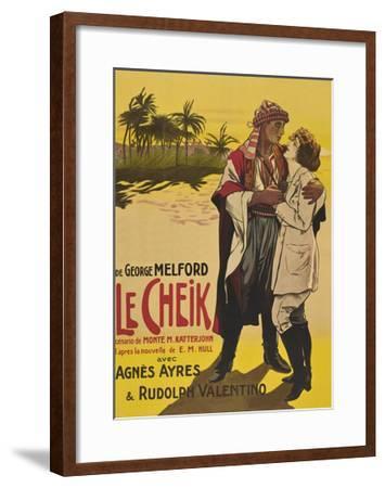 Le Cheik (The Sheik)--Framed Art Print