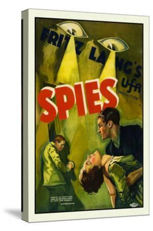 Spies-Fritz Lang-Stretched Canvas Print