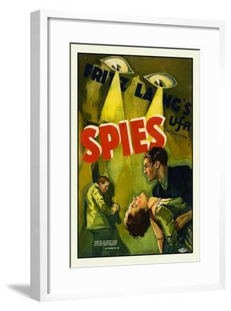 Spies-Fritz Lang-Framed Art Print