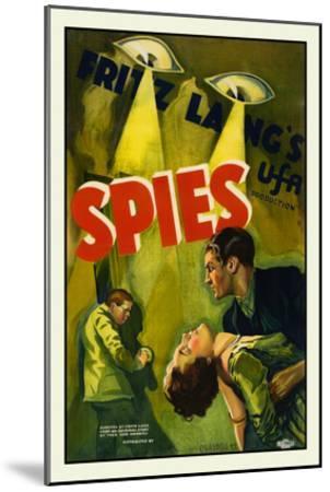 Spies-Fritz Lang-Mounted Art Print