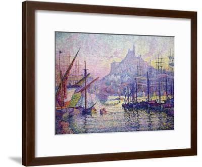 Notre-Dame-De-La-Garde (La Bonne-Mère), Marseilles-Paul Signac-Framed Art Print