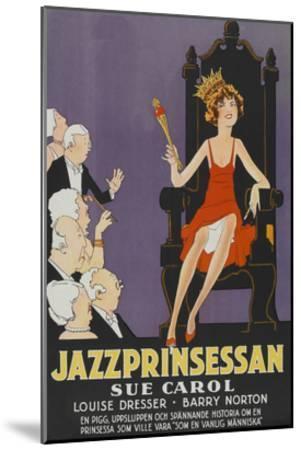 """Exalted Flapper """"Jazzprinsessan""""--Mounted Art Print"""