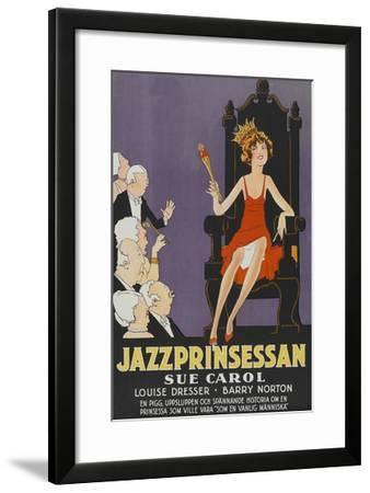 "Exalted Flapper ""Jazzprinsessan""--Framed Art Print"