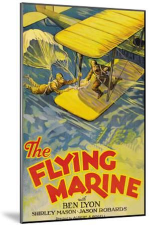 The Flying Marine--Mounted Art Print