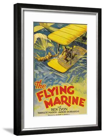 The Flying Marine--Framed Art Print