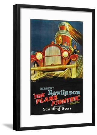 The Flame Fighter; Scalding Seas--Framed Art Print