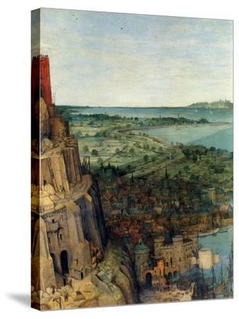 Tower of Babel - Detail-Pieter Breughel the Elder-Stretched Canvas Print