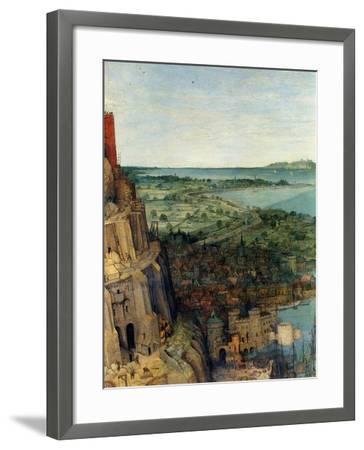 Tower of Babel - Detail-Pieter Breughel the Elder-Framed Art Print