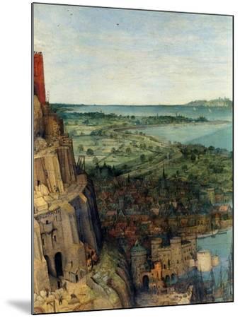 Tower of Babel - Detail-Pieter Breughel the Elder-Mounted Art Print