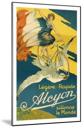 Alcyon Bicycles--Mounted Art Print