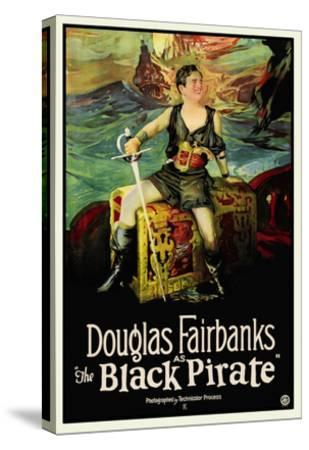 The Black Pirate--Stretched Canvas Print