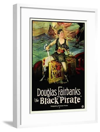 The Black Pirate--Framed Art Print