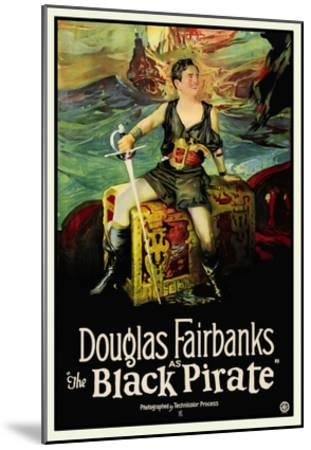 The Black Pirate--Mounted Art Print