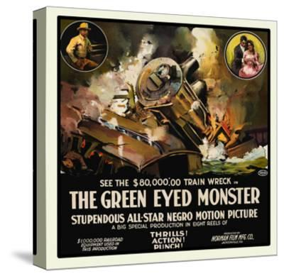 The Green Eyed Monster- Norman Studios-Stretched Canvas Print