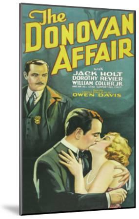 The Donovan Affair--Mounted Art Print