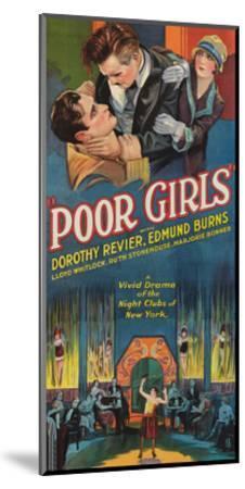 Poor Girls--Mounted Art Print