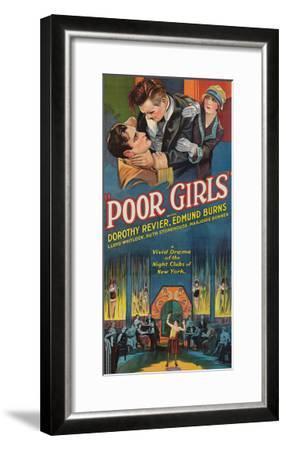 Poor Girls--Framed Art Print