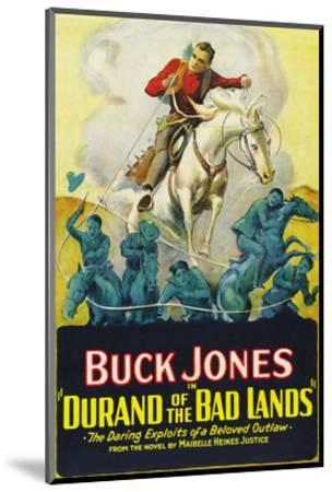 Durand of the Bad Lands--Mounted Art Print